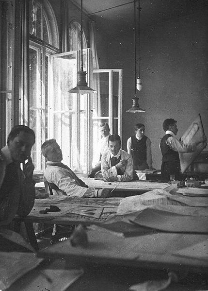 Das Bauhaus Atelier um 1908 (Foto: Wikipedia)