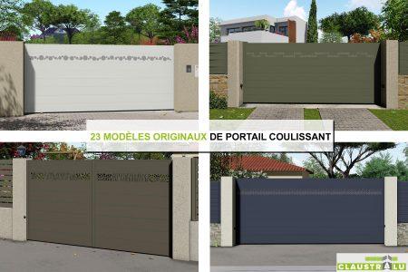 portail aluminium design moderne