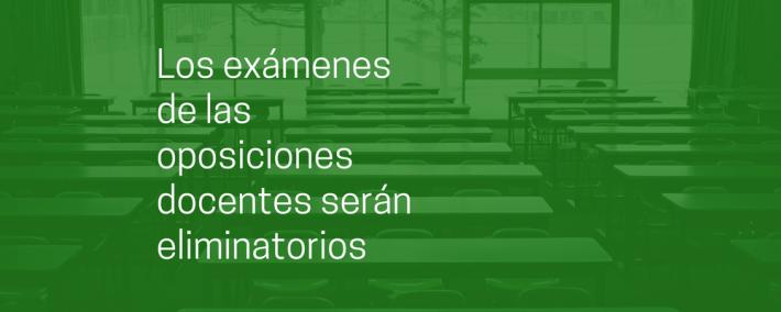 Los exámenes de las oposiciones docentes serán eliminatorios - Academia CLAUSTRO