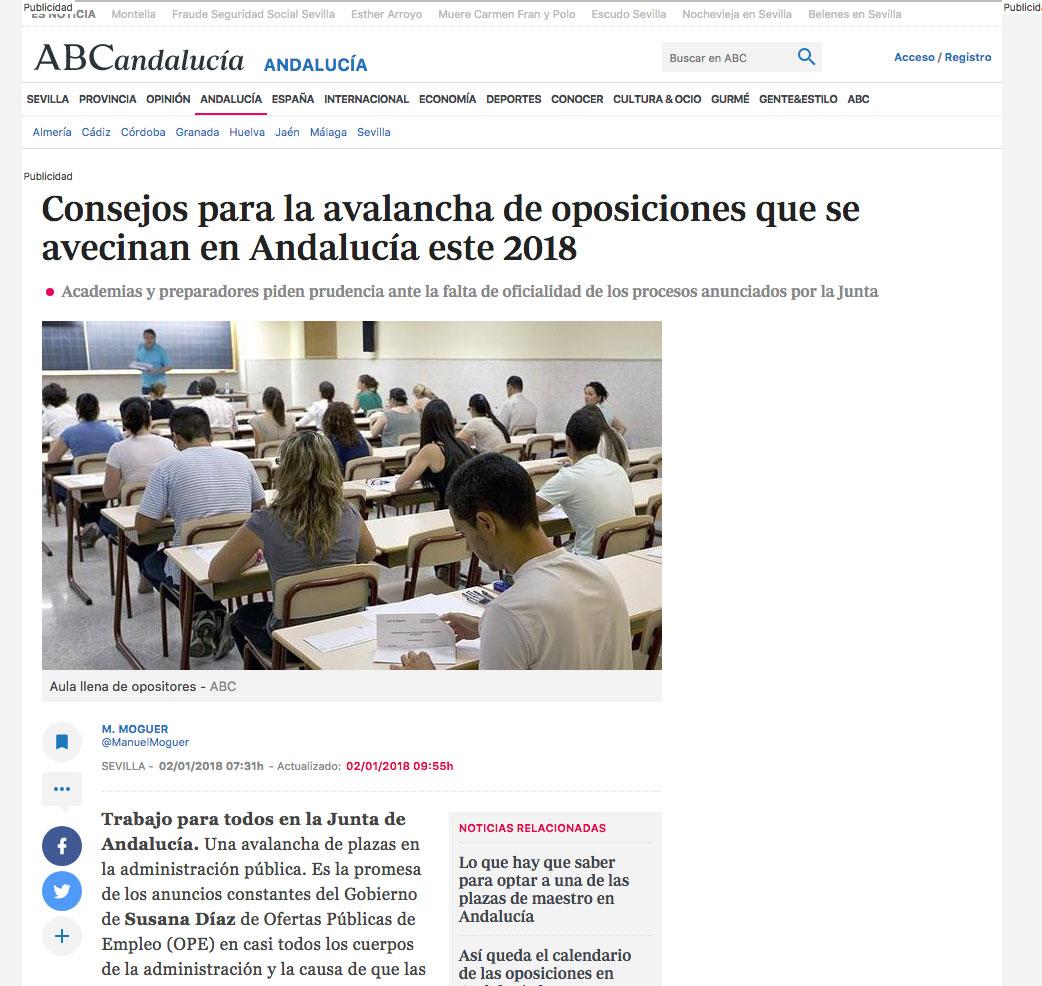 Consejos para la avalancha de oposiciones que se avecinan en Andalucía este 2018