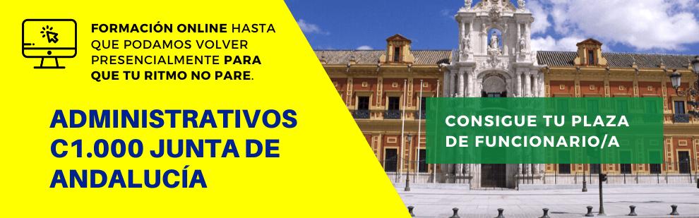 Curso de preparación para el cuerpo de Administrativos de la Junta de Andalucía (C1.1000) - Academia CLAUSTRO Sevilla