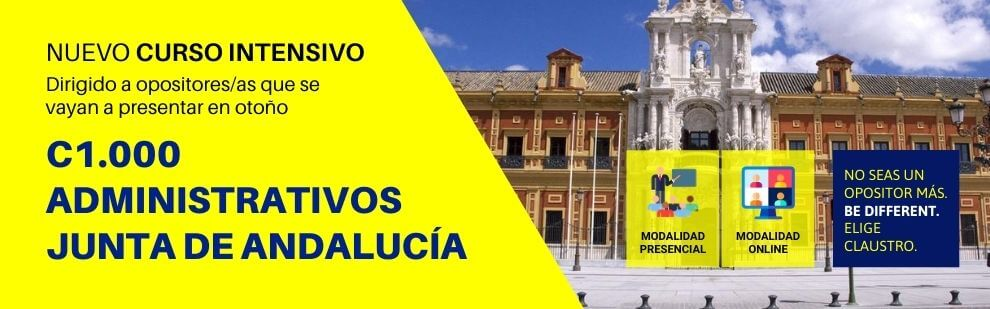 Cursos de oposiciones a Administrativos de la Junta de Andalucía