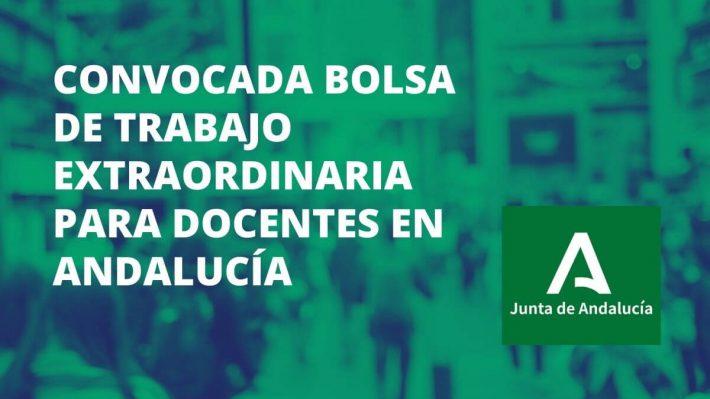 Andalucía convoca bolsa de trabajo extraordinaria para profesores de Secundaria, PTFP, EOI, Música y Artes Escénicas y Artes Plásticas y Diseño