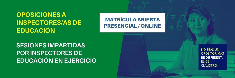 Oposiciones al cuerpo de Inspección Educativa en Andalucía - Academia CLAUSTRO