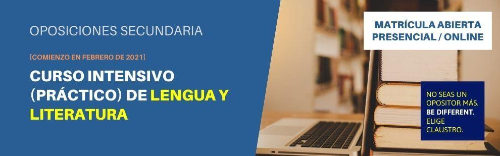 Curso de preparación solo práctico [online y/o presencial] de Lengua y Literatura de Secundaria