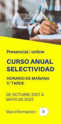 Curso anual de Selectividad (PEvAU) [presencial/online]