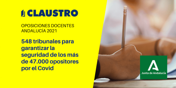 47.270 aspirantes optarán a una plaza en las oposiciones a Secundaria, FP y Régimen Especial que se celebran en Andalucía el 19 de junio