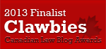 2013 Canadian Law Blog Finalist