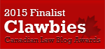 2015 Canadian Law Blog Finalist