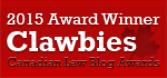 2015 Canadian Law Blog Awards Winner