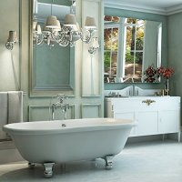 Luxury 72 inch Clawfoot Tub with Vintage Tub Design in White, Includes Polished Chrome Cannonball Feet and Drain, From The Northfield Collection