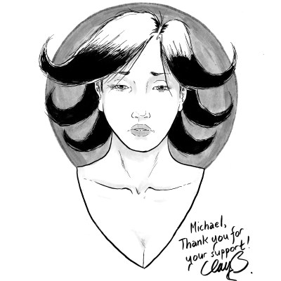 July 2016 sketch of depressed character #7, won by Michael.