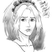September 2016 sketch of depressed character #2 (Robin) (depression comix), won by Alexander.
