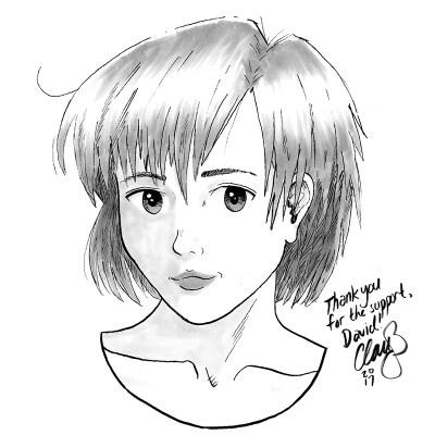 December 2016 sketch of Tomoe Toyosaka (Sexy Losers) won by David.