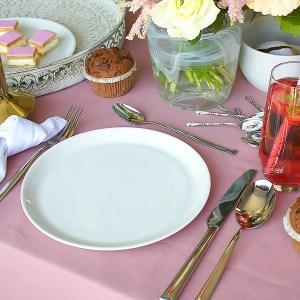 ontbijtbord porselein wit