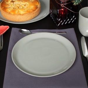 porseleinen ontbijtbord grijsbruin
