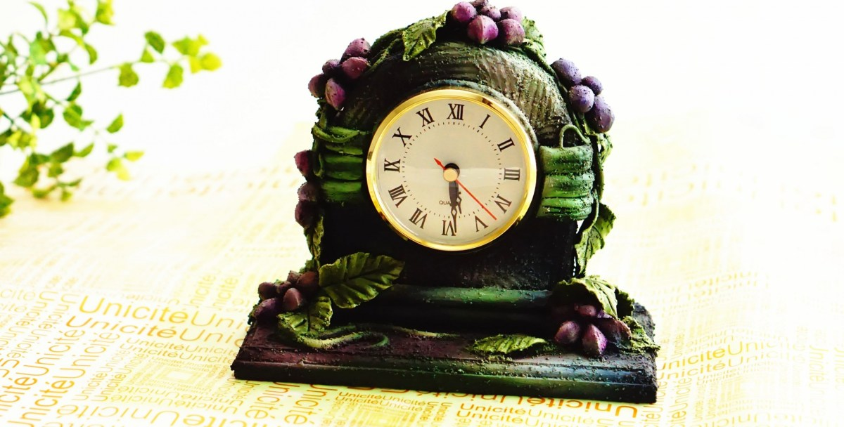 Clock Display Clay art project