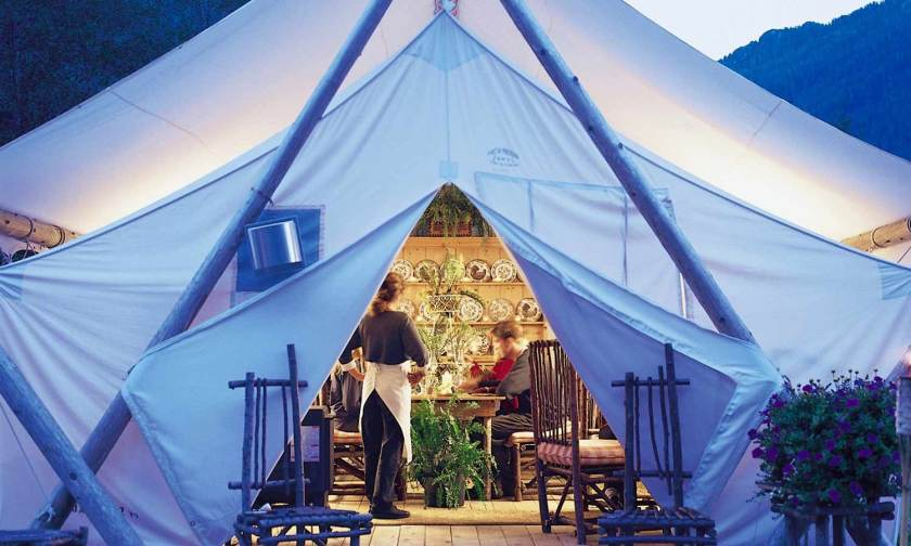 Clayoquot Wilderness Resort Dining Tent
