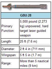 GBU 28 Bomb