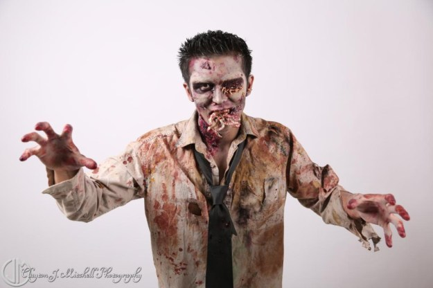 rotting corpse halloween makeup