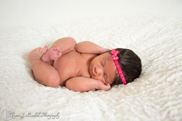 curled up newborn photo