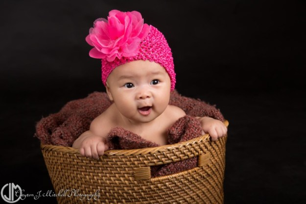 Baby in a Basket Photograph