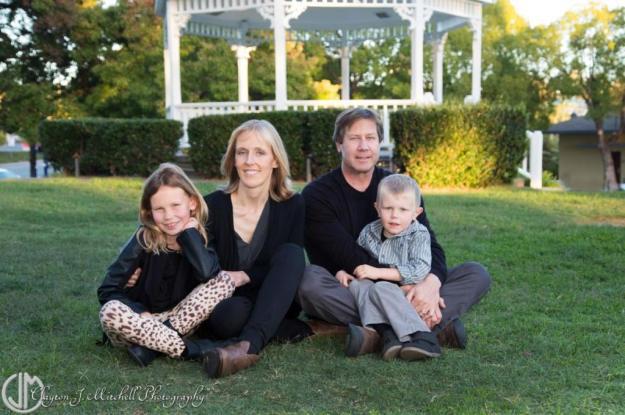 family portrait by gazebo in Benicia CA