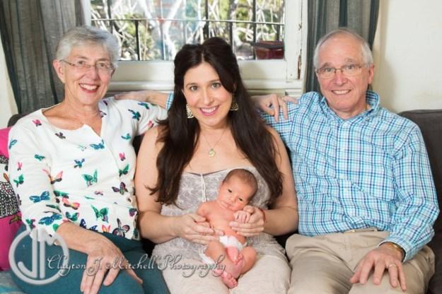 family portrait with newborn Berkeley CA