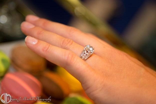 Diamond Engagement Ring on Fingerwtmk
