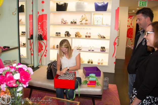 luxury shopping experience at Kate Spade