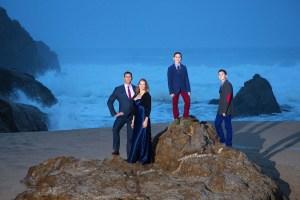 Dramatic Family Portrait with crashing waves