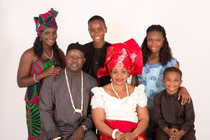 Nigerian family in studio