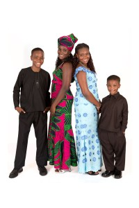 Nigerian kids formal studio photo