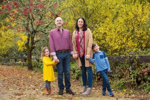 Fall Family photo at Redwood Regional Park