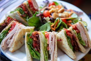 Club sandwich food photography