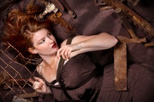 Model with Rusty Steel Implements