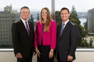 Law office portrait with Lake Merrit background
