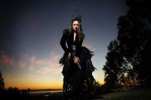 Moody Raven Queen at Sunset fashion photo