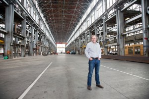 Executive portrait at a factory