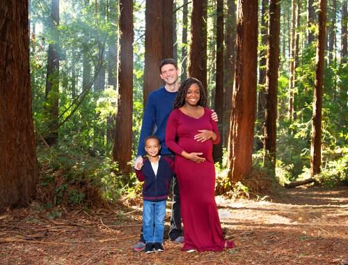 redwoods landscape family portrait