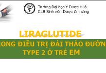 Liraglutide trong điều trị đái tháo đường type 2 ở trẻ em