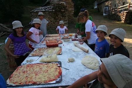 La préparation des pizzas ...
