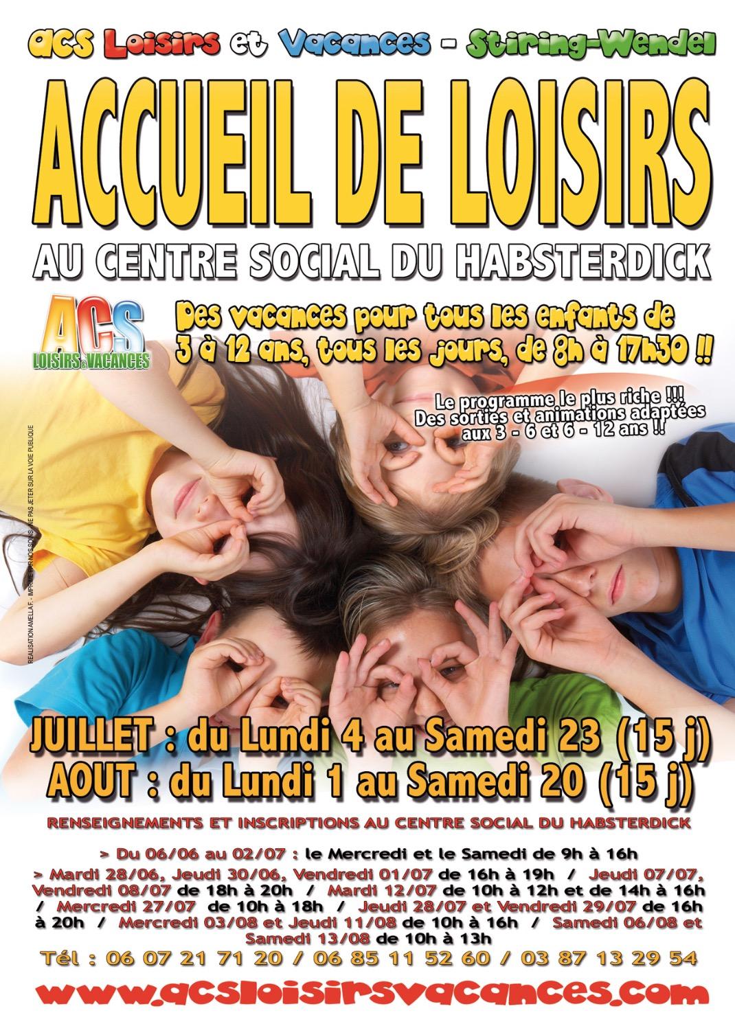 Tract des Accueil de Loisirs été 2011