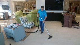 dfs Xchurch commercial cleaning ahead of big opening