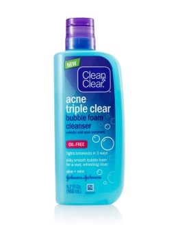 نتيجة بحث الصور عن ‪Clean & Clear Triple Cleanse Bubble Foam Cleanser‬‏