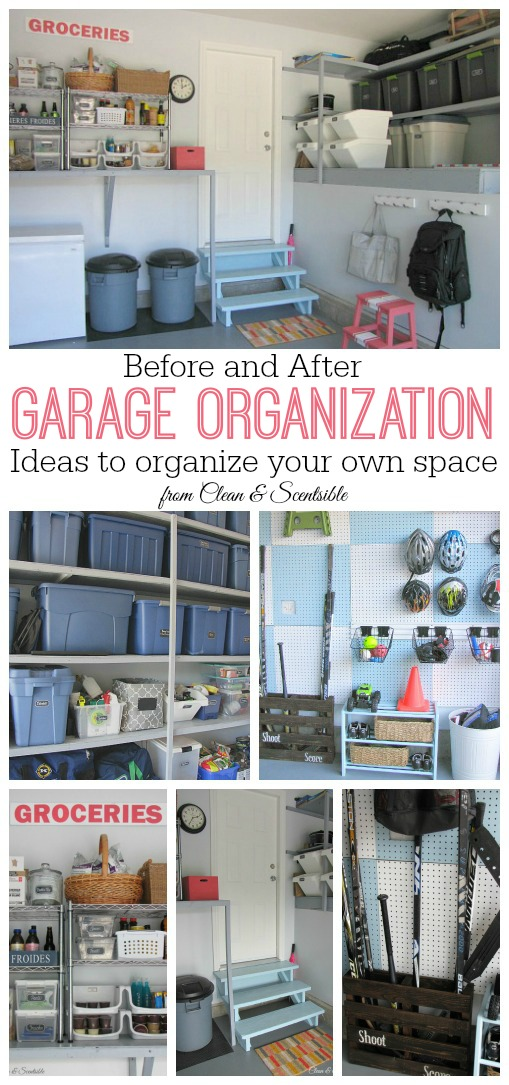 How to Organize the Garage - DIY - Clean and Scentsible on Organized Garage  id=21701