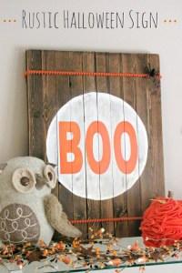 halloween rustic sign