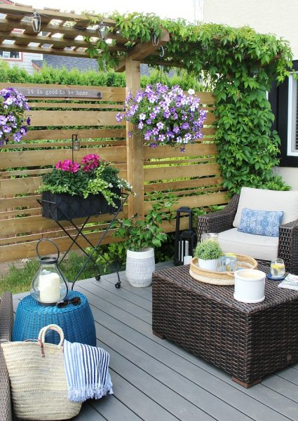 Outdoor Living - Summer Patio Decorating Ideas - Clean and ... on Lawn Patio Ideas id=95808
