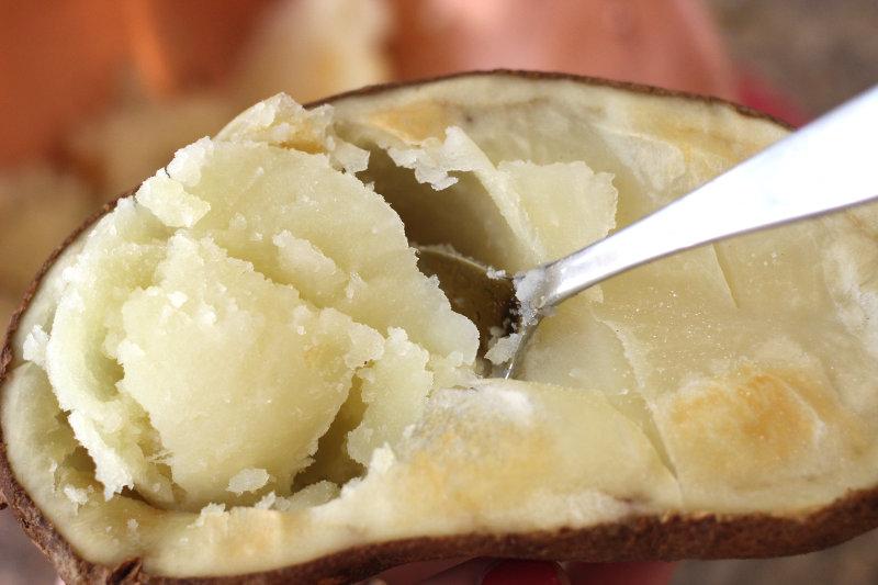 Scooping Potatoes