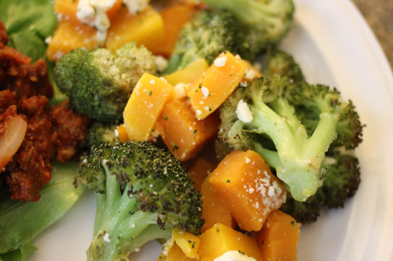 Roasted Veggies with Feta Cheese